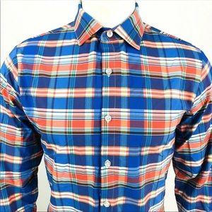 Mizzen + Main Shirt Plaid Button Down Mens Medium